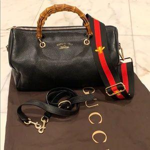 Gucci black bamboo bag